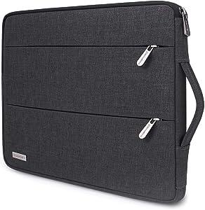 "SINSIM Laptop Sleeve Case for 15.6 Inch Dell XPS 15, Lenovo Yoga 730 / Legion Y540 / ThinkPad E585 E595 L590 P53S / ThinkPad P1 2019, 16"" MacBook Pro, Asus ZenBook 15, Samsung Notebook 9, Dark Grey"