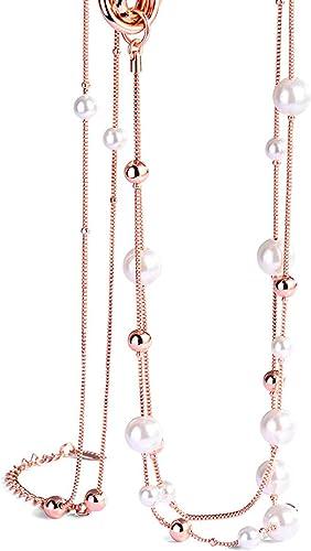 collier femme plaque or rose