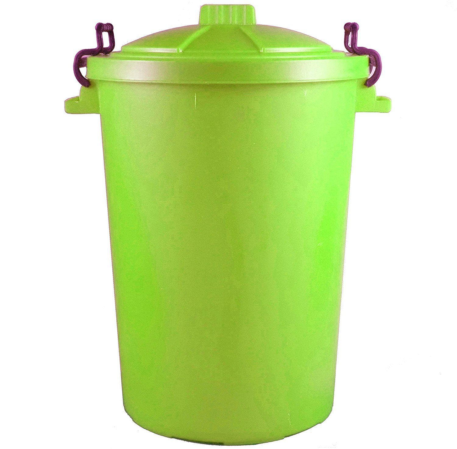 85 Litre 85L Extra Large Colour Plastic Dustbin Garden Bin Clip on Locking Lid Heavy Duty for Rubbish Recycle Waste Animal Feed Storage Unit Sky Blue