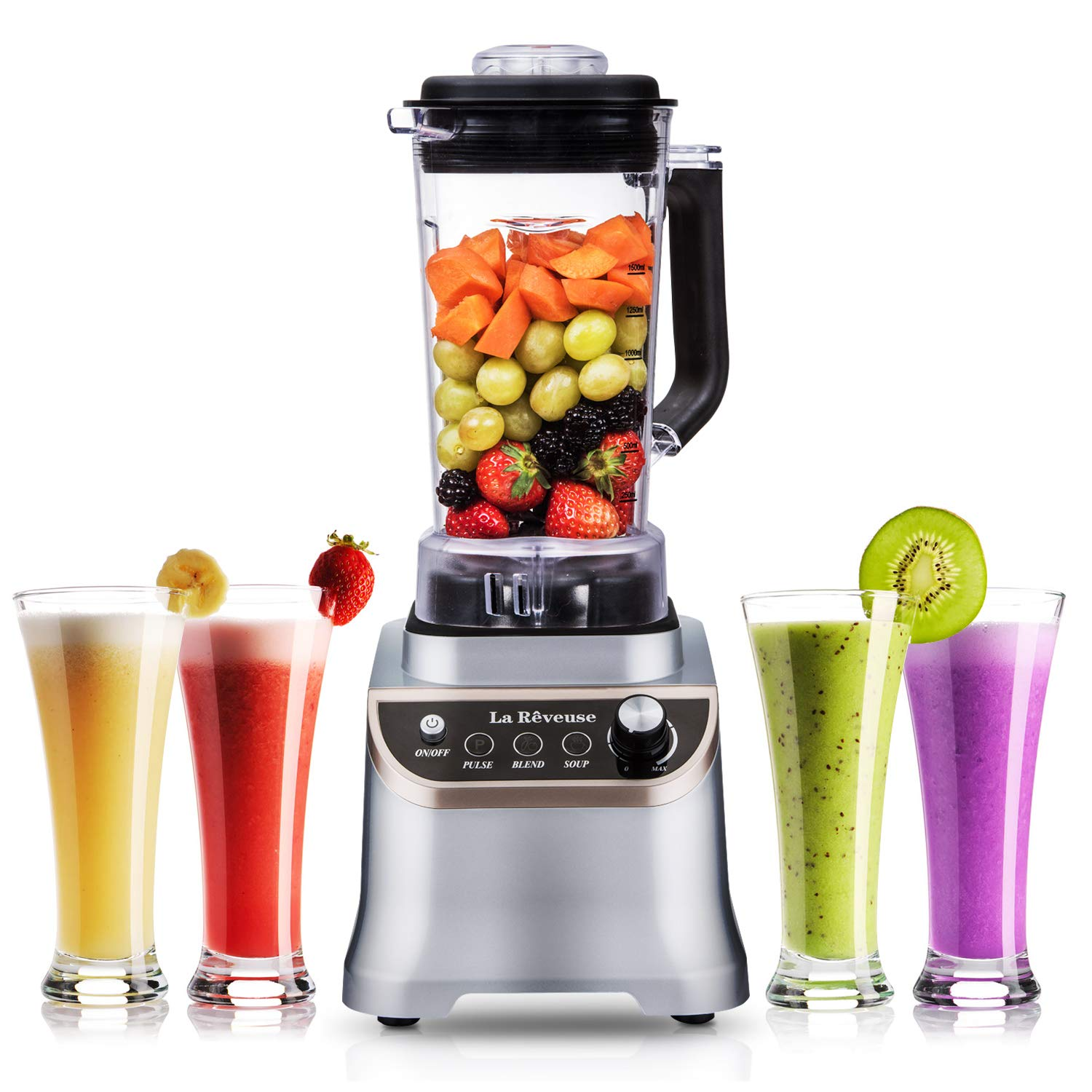 Professional Countertop High Speed Blender with 1200-Watt Base-51 oz BPA Free Jar for Frozen Drinks and Smoothies,Special Design for Entire Family