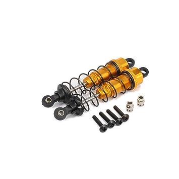 RCAWD amortiguador de amortiguador F104004 90mm aceite aleación ajustable de aluminio para Rc coche 1/10 en carretera Drift Axial Tamiya 2Pcs(amarillo): ...