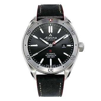 Meilleure vente code promo prix Alpina Homme Date Standard Automatique Montre avec Bracelet en Cuir  AL-525BS5AQ6