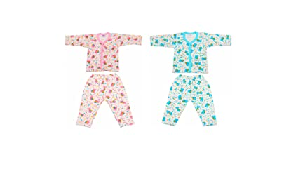 047ad8fb29b4 Buy Littly Front Open Kids Printed Thermal Top   Pyjama Set for Baby ...