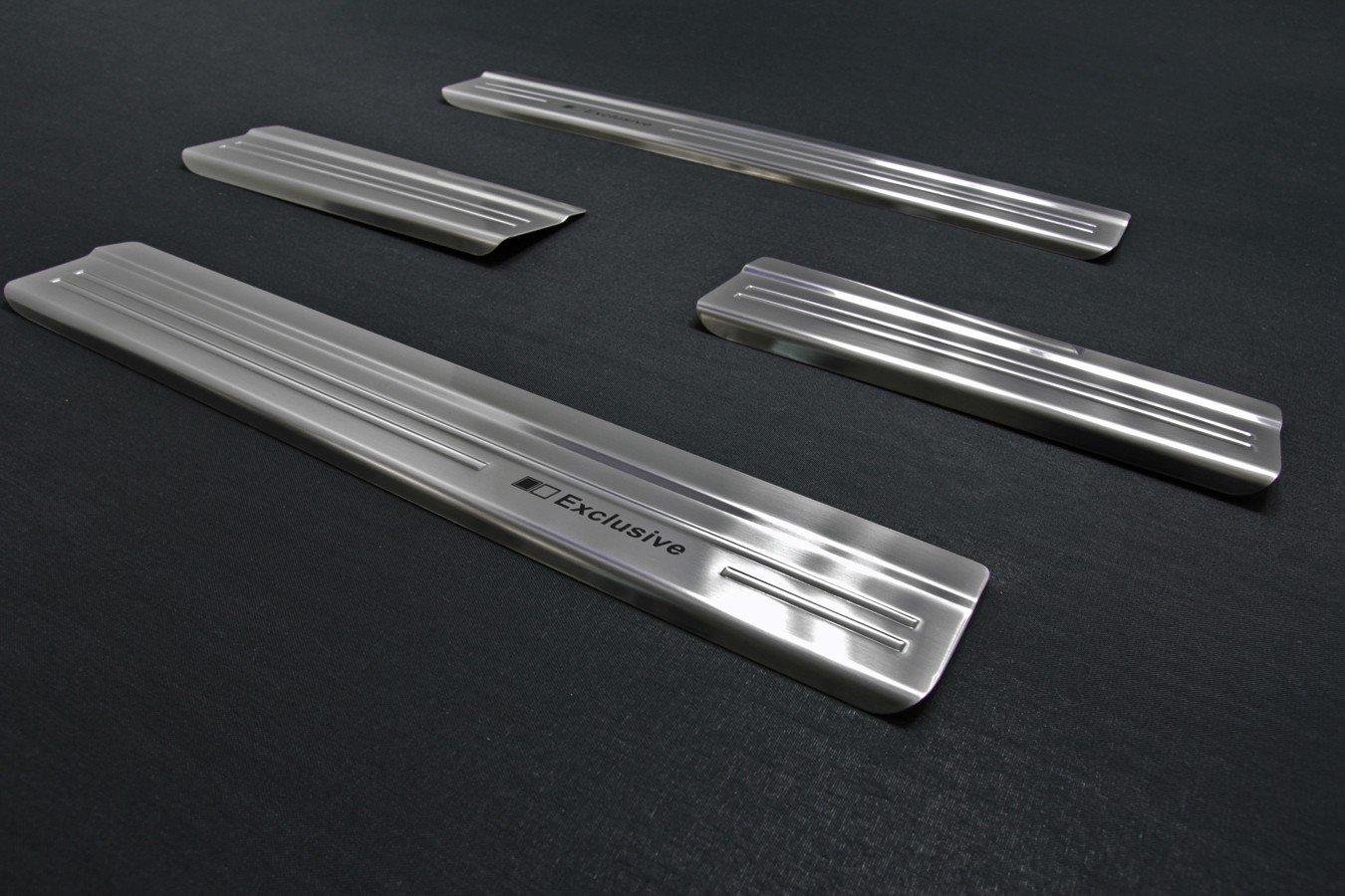 tuning-art EX104 Protections de seuils de Portes de Voitures avec Le Lettrage Exclusive