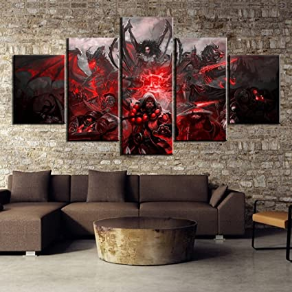 Amazon.com: JESC HD Print 5 Piece World of Warcraft Game Poster ...