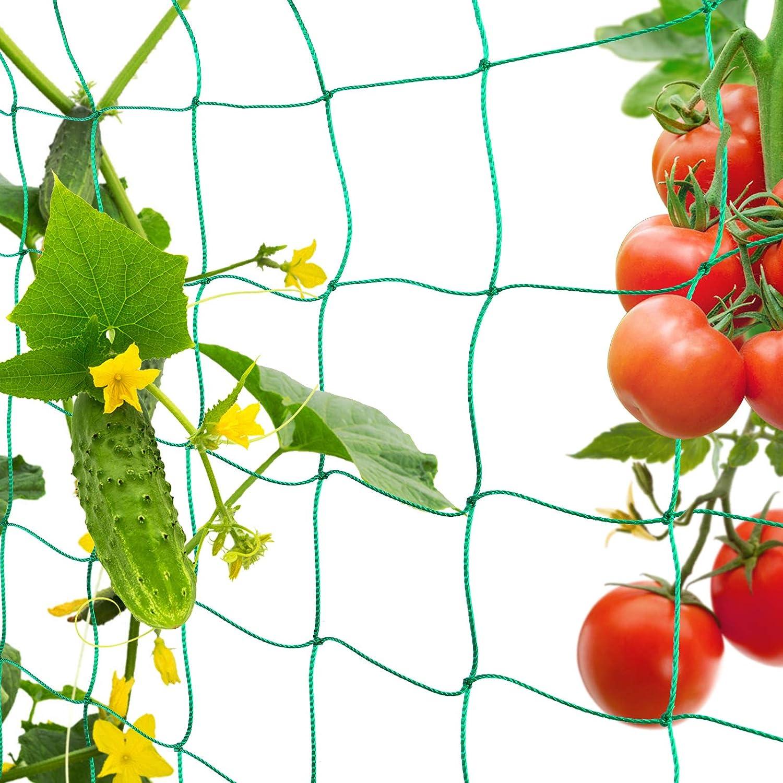 FORMIZON Red de Jardín, Red de Enrejado de Plantas para Plantas, Tomates, Hortalizas, Plantas, Trepadoras, Red para Pájaros para Jardín e Invernadero (1.8 x 3.6m)