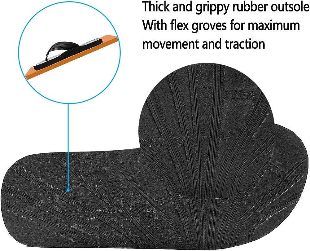 Amazon.com: Quickshark - Chanclas de piel para hombre: Shoes