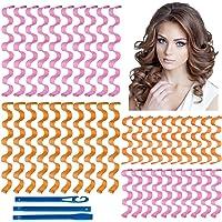 40 stuks Haarkrulspelden Styling Kit Geen Hitte Water Rimpel Haarrollers Magische Haarroller Met 3 Stuks Stylinghaken…