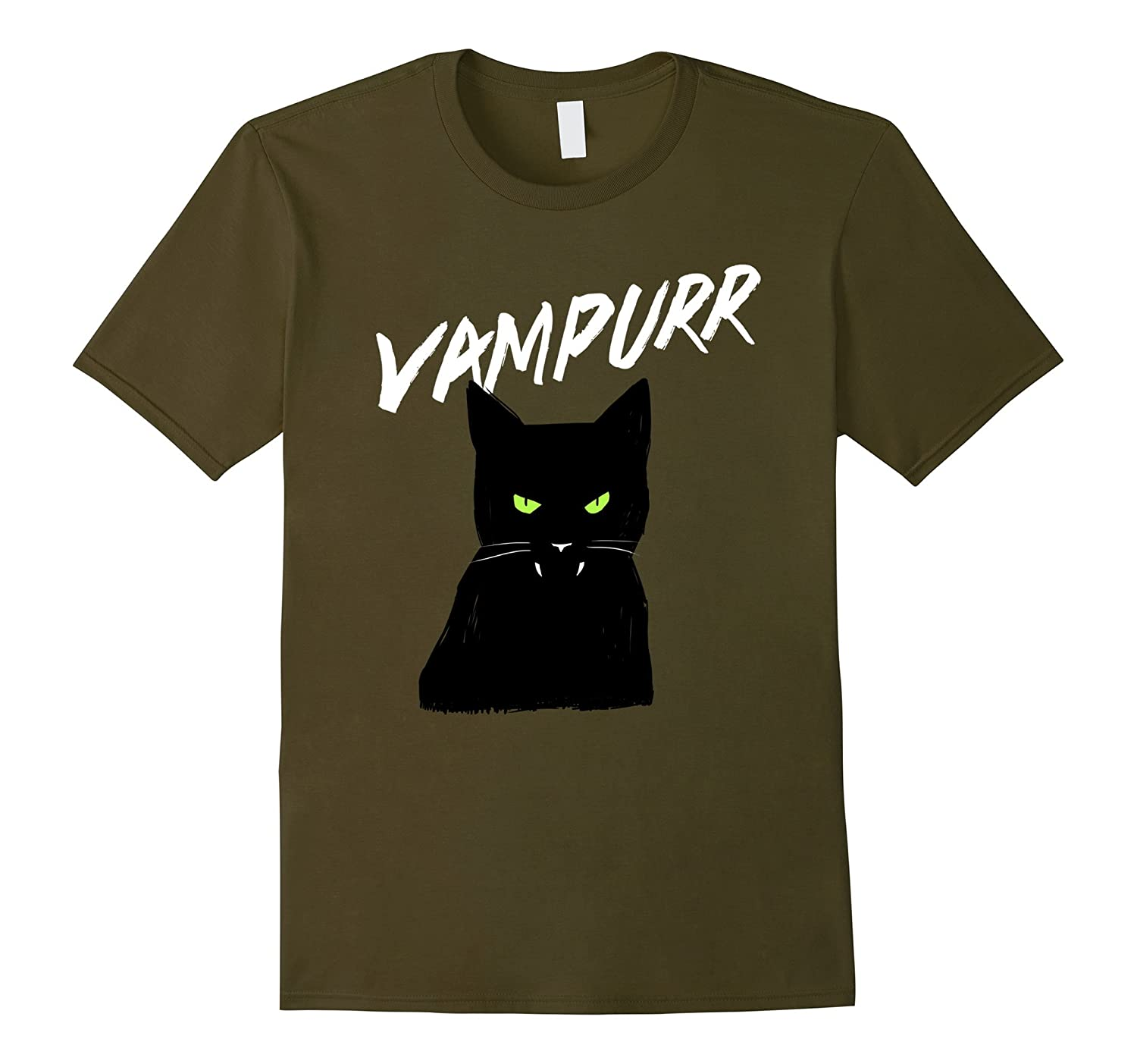 Vampurr Vampire Black Cat T-Shirt Halloween Tee-CL
