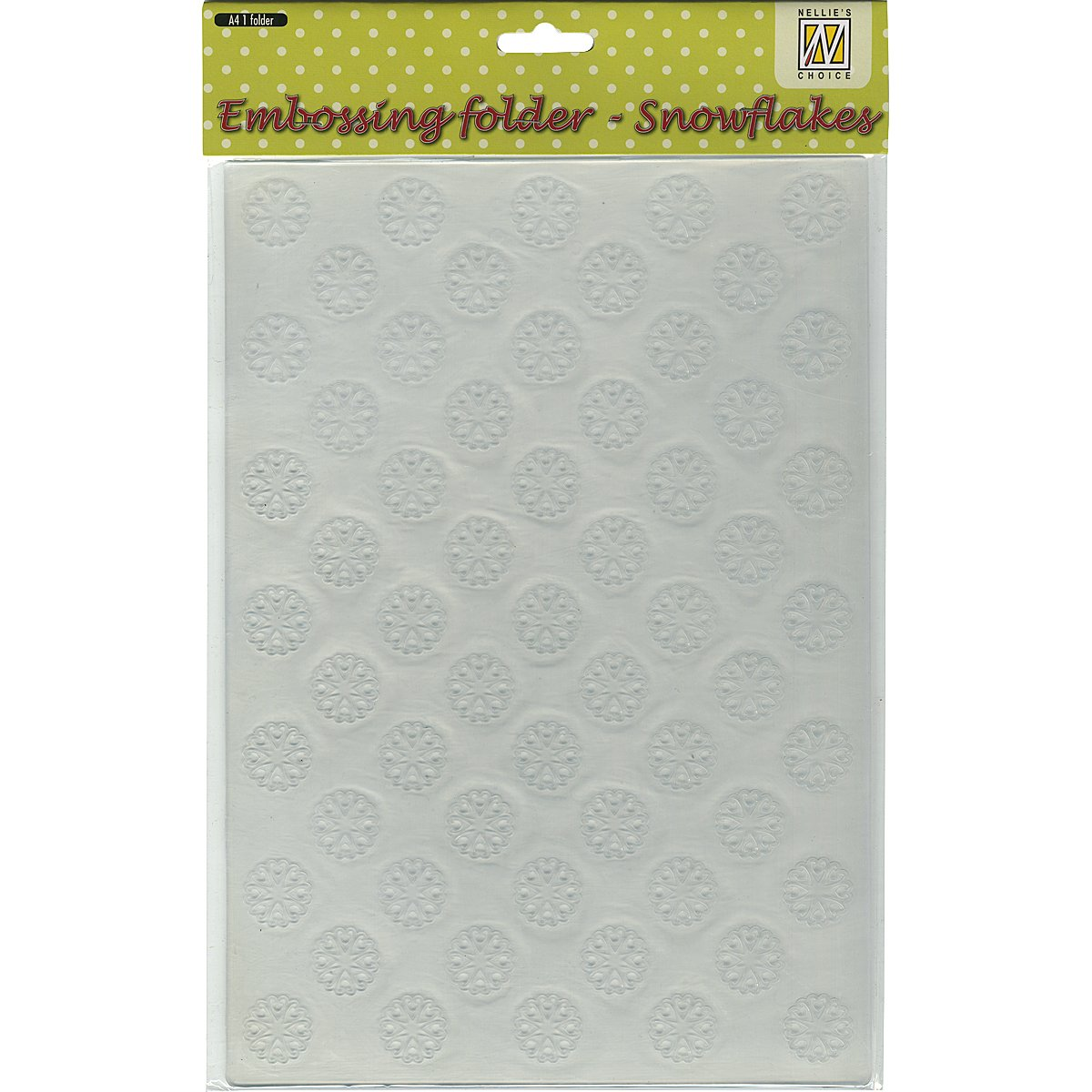 Ecstasy Crafts Nellie's Choice A4 Embossing Folder, Snowflakes EEBA403