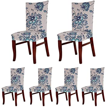 ColorBird Spandex Fabric Chair Slipcovers Removable Universal Stretch Elastic Protector Covers For Dining Room