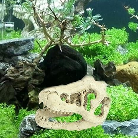 Acuario de pecera para Halloween, acuario, decorativo, resina, calavera, dragón,