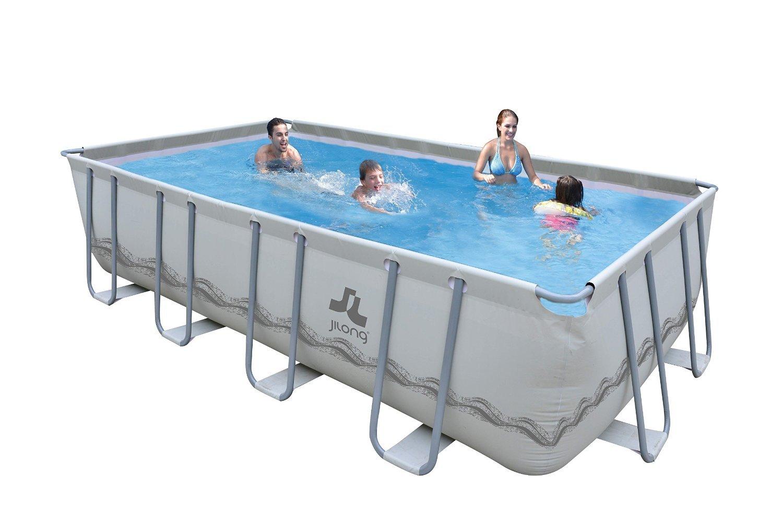 JILONG JL017464NG Piscina con bordi Piscina rettangolare piscina fuori terra