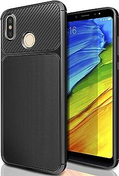 Xiaomi Redmi Note 5 Funda Negro, AROYI Carcasa Redmi Note 5 Slim Soft TPU Silicone Antigolpes Back Bumper Protective Case Cover para Xiaomi Redmi Note 5: Amazon.es: Electrónica