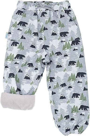 Fleece-Lined: Green, 3T Snow or Rain-Proof Outer-Wear JAN /& JUL Rain Pants Toddler Girls Boys