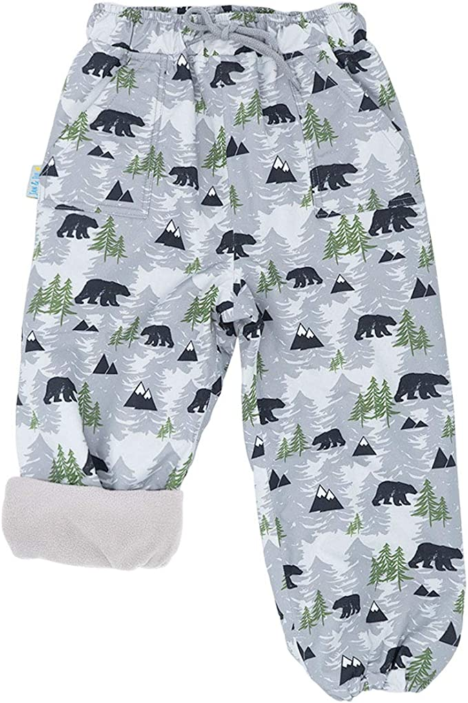 Wind and Water-Proof JAN /& JUL Toddler Girls Snow Pants Fleece-Lined: Rainbow, 2T