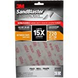 3M 28220SB-UF4 Sandblaster Ultra Flexible Sanding Sheets, 7 X 4.5-Inches, 220 Grit, Fine, 4/Pack