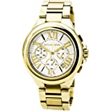 Michael Kors Womens Camille Quartz Stainless Steel Dress Watch, Color:Gold-