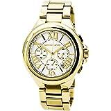 Michael Kors Womens Camille Quartz Stainless Steel Dress Watch, Color:Gold-