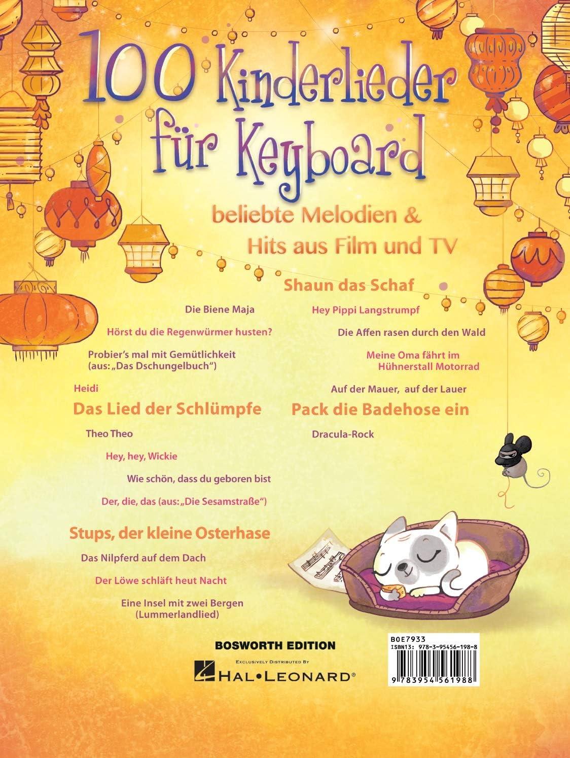 beliebte Melodien /& Hits aus Film und TV 100 Kinderlieder für Klavier