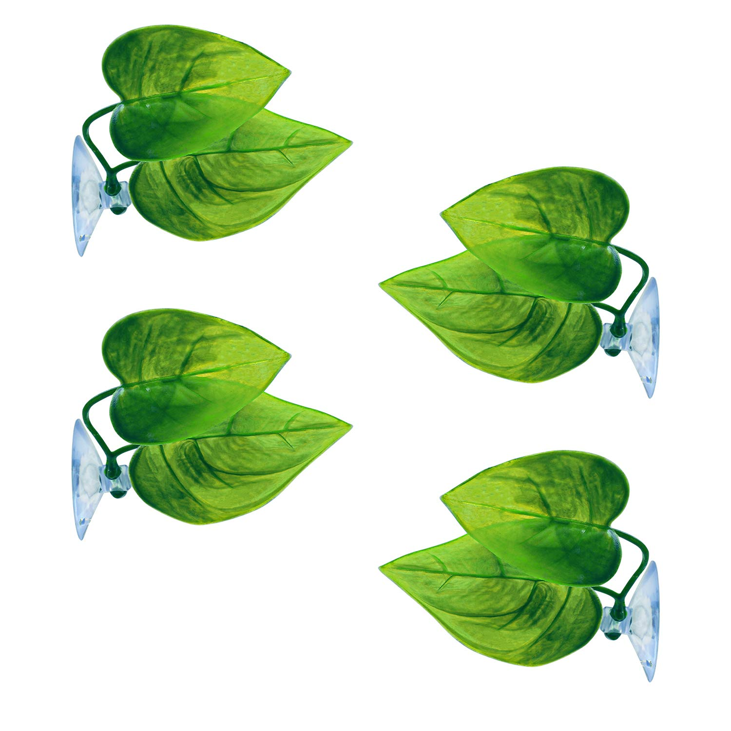 URATOT 4 Pack Betta Fish Leaf Pad Simulating The Natural Habitat for Betta Spawning Grounds Breeding Resting Bed