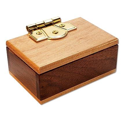 Bits And Pieces The Mini Secret Gift Box Brainteaser Puzzle Wooden Maple Walnut Hinged Money Puzzle Box Doug Engel Brainteaser Measures 3 1 4 X