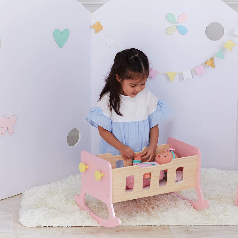 Olivia's Little Little Olivia's World TD-12865A Puppenwiege, Rose 11b3d1