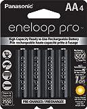 Panasonic eneloop Pro AA Rechargeable Ni-MH Batteries 2550 mAh (Pack of 4)