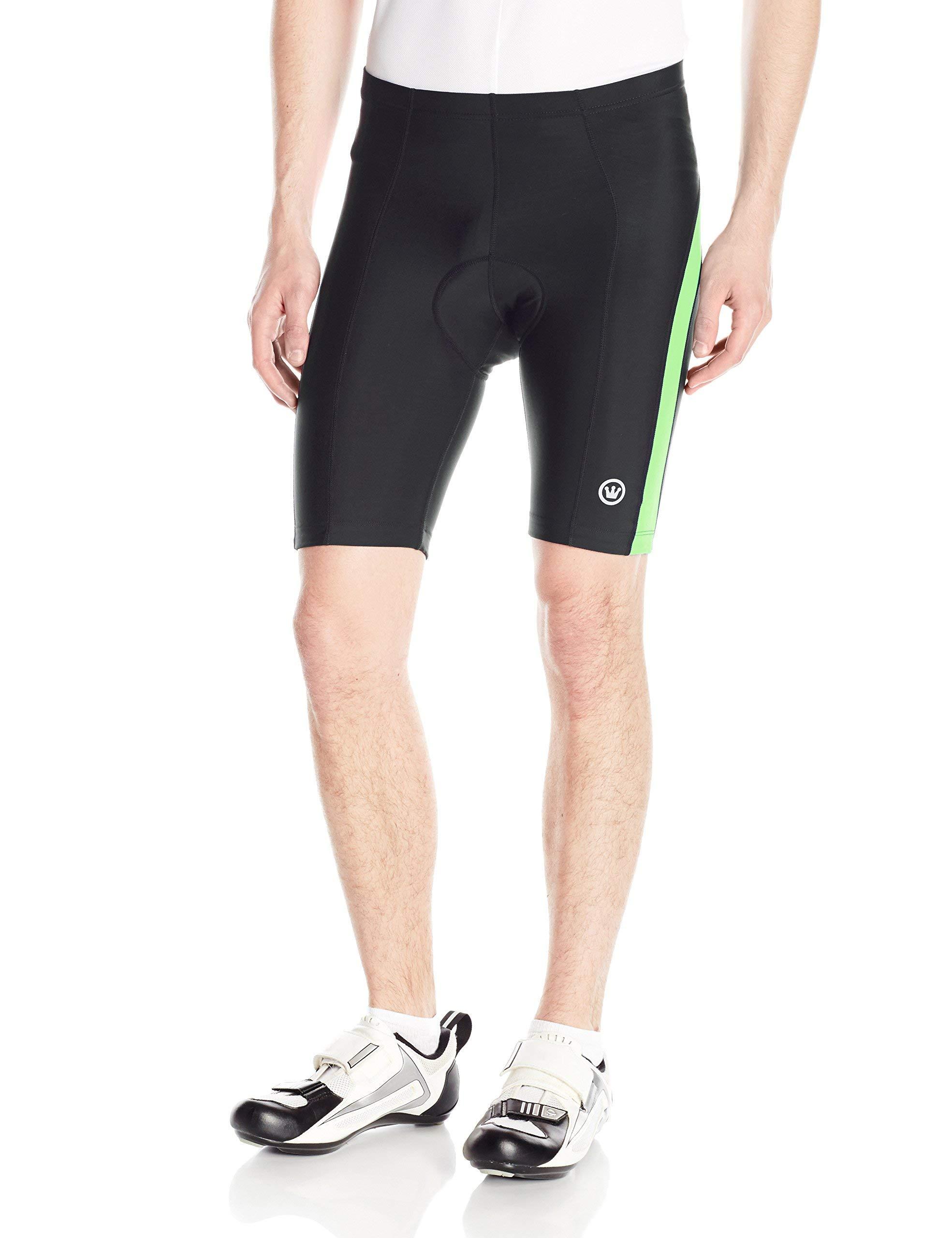 CANARI Men's Blade Gel Shorts, Neon Glow Stick Green, Large