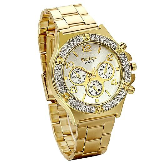 Jewelrywe Regalo de papá Día del Padre Grande Relojes de Hombre Caballero 9dbf3c26e1eb