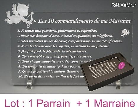 10 Commandements De Parrain Et Marraine Ange Texte Junior Baptême Communion