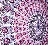 Peacock Mandala Tapestry, Indian Hippie Wall Hanging , Bohemian Bedspread, Mandala Cotton Dorm Decor Beach blanket ModTradIndia