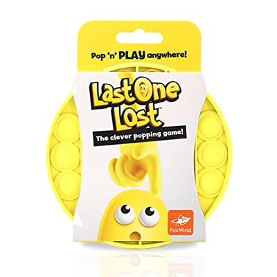 FoxMind, Last One Lost, Tactile Logic Travel Game for Kids, Family, and Friends - Yellow: Toys & Games