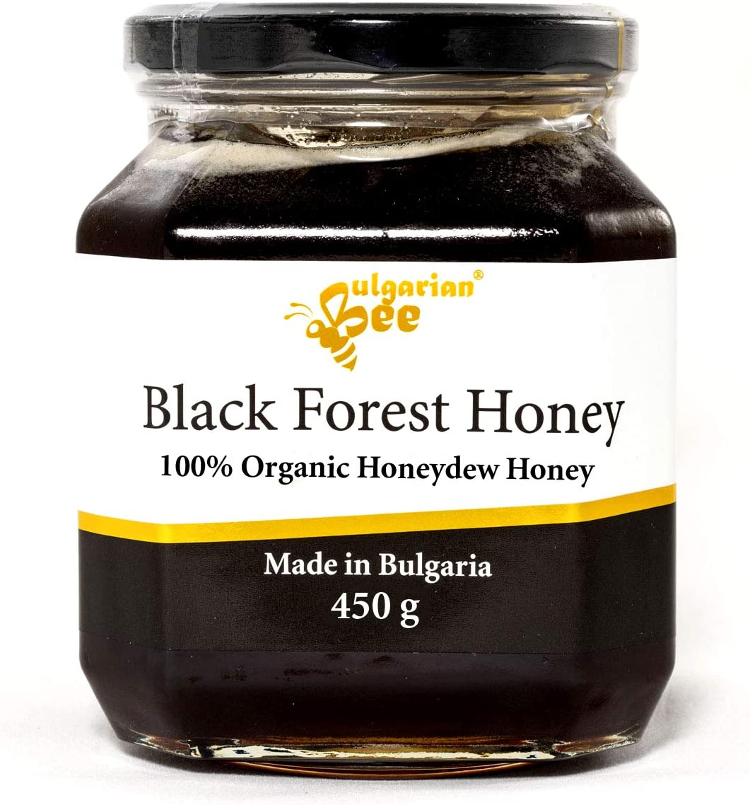 450 g Organic Raw Black Forest Honey, Oak Forest Honeydew, Natural, Pure, Unheated