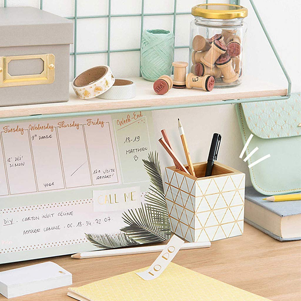 WeiLuShop Stifthalter Desktop Organizer Sicher Sicher Sicher Und Umweltfreundlich Holz Stifthalter Büro Rutschfeste Desktop Dekoration Aufbewahrungsbox Multifunktions Schreibwaren Stifthalter Aufbewahrungsbox B07Q6PWZT1 | Online  6cc143