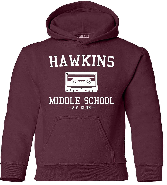 NuffSaid Youth Hawkins Middle School AV Club Hooded Sweatshirt Stranger Kids Hoodie