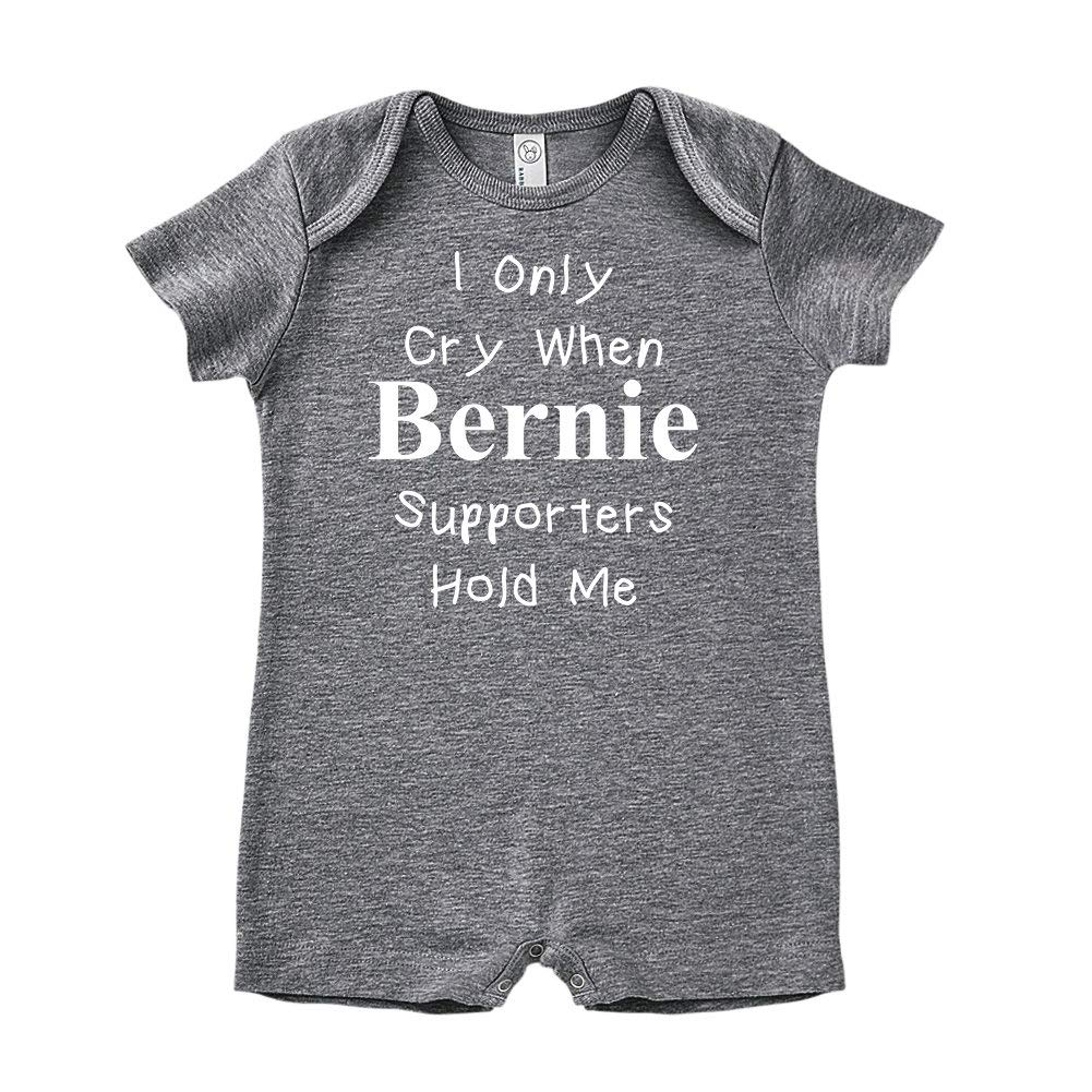 I Only Cry When Bernie Supporters Hold Me Political Republican Baby Romper
