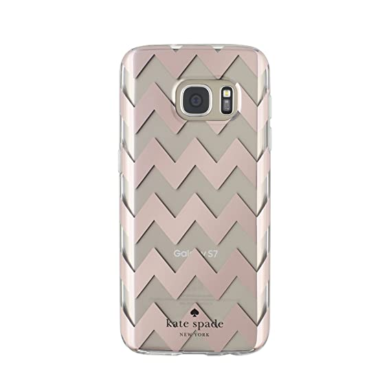 big sale 55936 0f1aa kate spade new york Hardshell Clear Case for Samsung Galaxy S7 - Chevron  Rose Gold/Clear