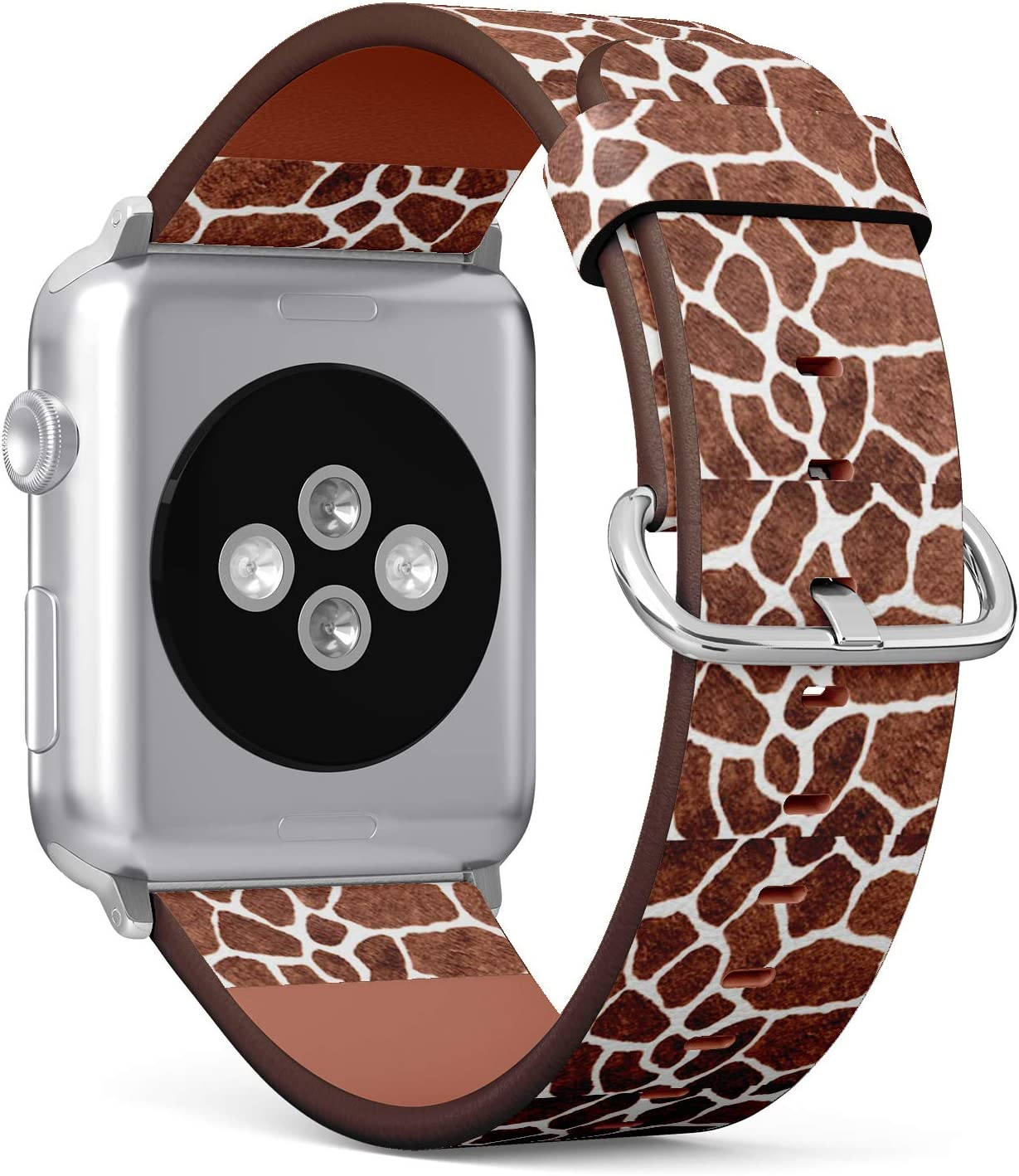 [ Compatible with Big Apple Watch 42mm / 44 mm ] Replacement Leather Band Bracelet Strap Wristband Accessory // Giraffe Skin