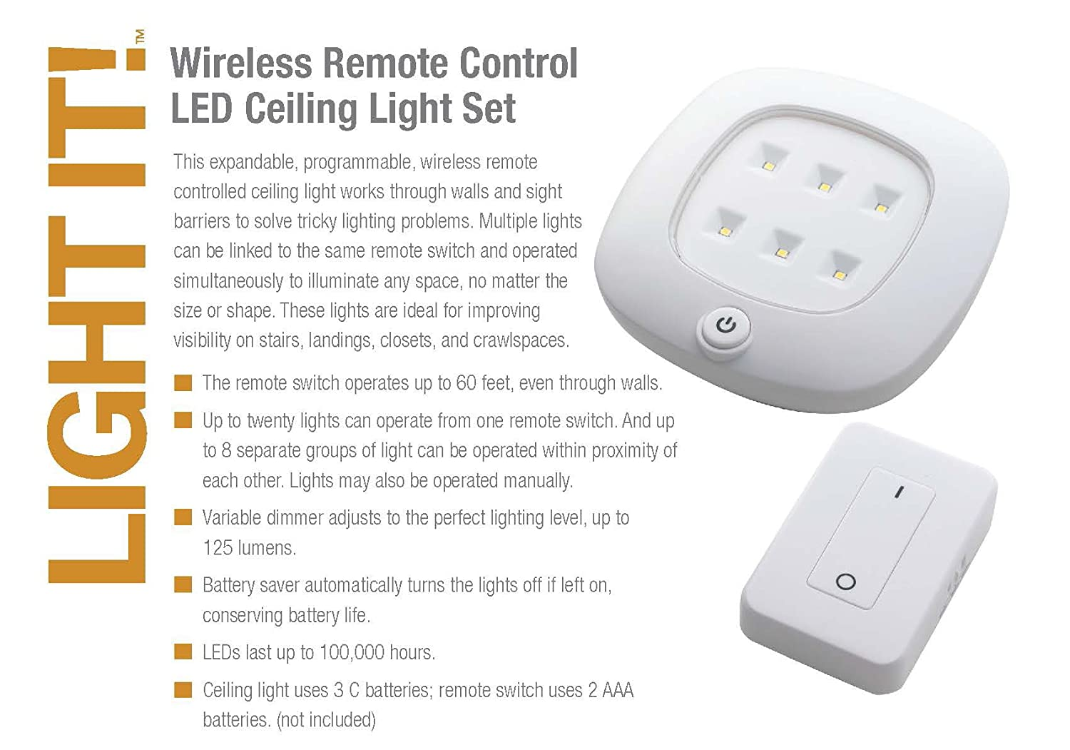 Light it by fulcrum 30032 308 remote control led wireless ceiling light it by fulcrum 30032 308 remote control led wireless ceiling light 58 inch white amazon aloadofball Image collections