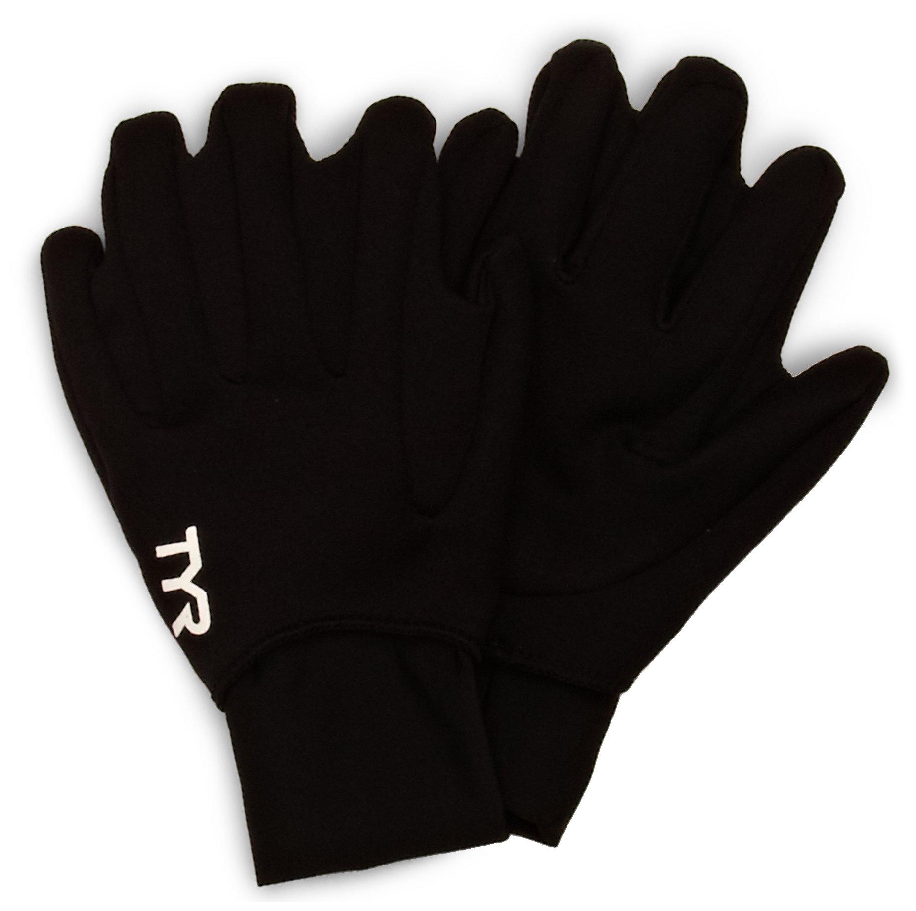 TYR 1TGLO6AS Neoprene Swim Gloves, Black, Small