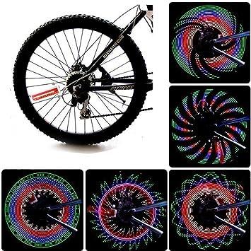 JAMSWALL Rueda del LED Luces para Rueda de Bicicletas 32 Leds ...