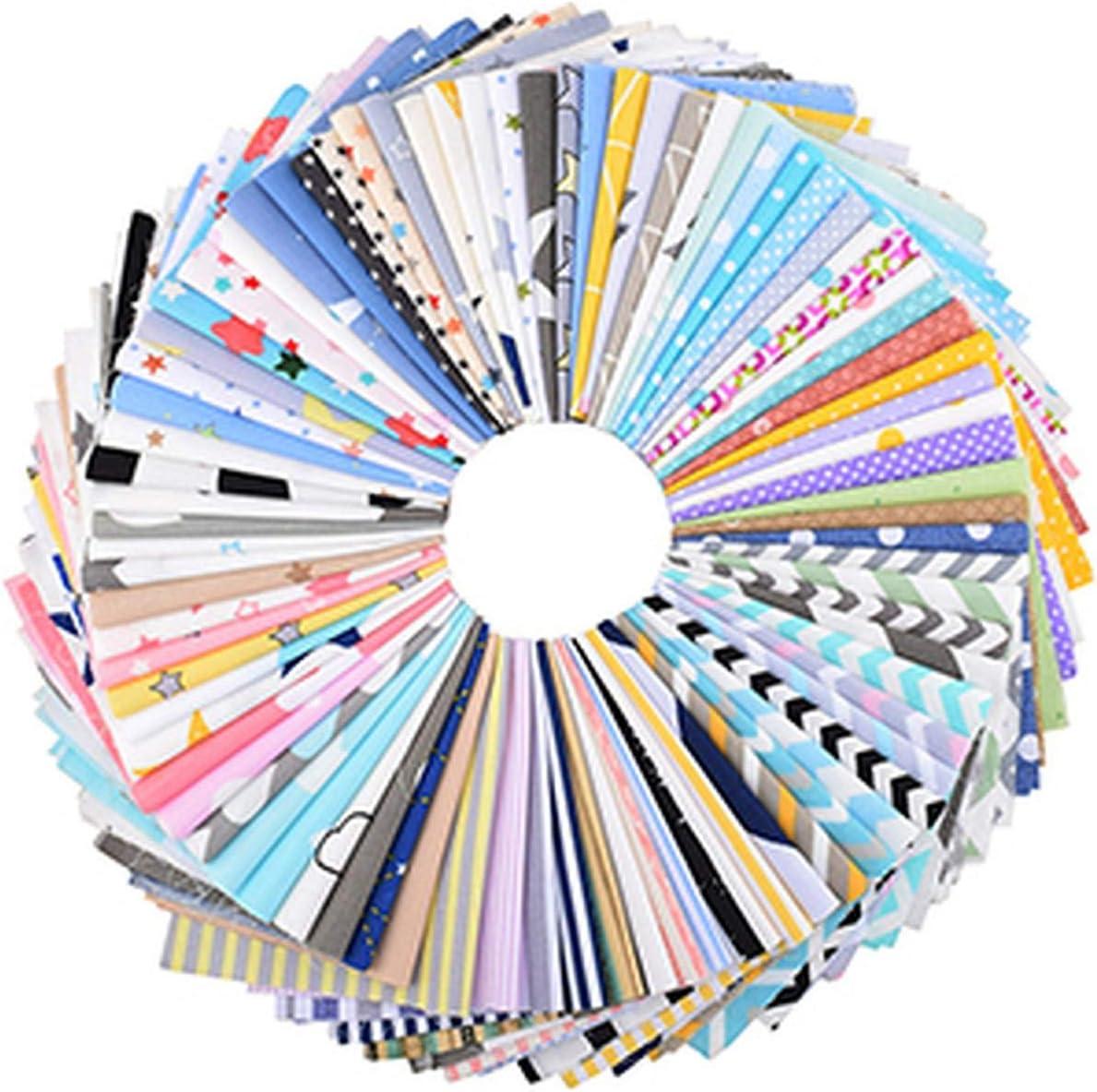 , Patchwork floral aleatorio, geometría y tela de algodón de sarga de dibujos animados, para acolchado y costura de bricolaje, material de cuartos gordos, geometría 20x25cm-B 20cmx25cm-20pcs una bolsa