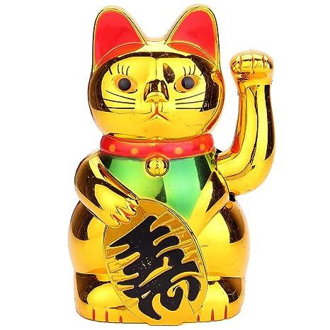 Nuevo chino suerte riqueza saludando gato llamando Maneki ...