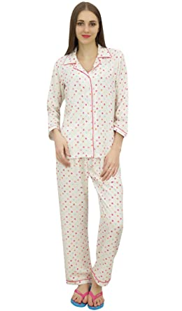 10d7f3895e Bimba Printed Off-White Button-Down Shirt with Elastic Waist Pajama Pants-8