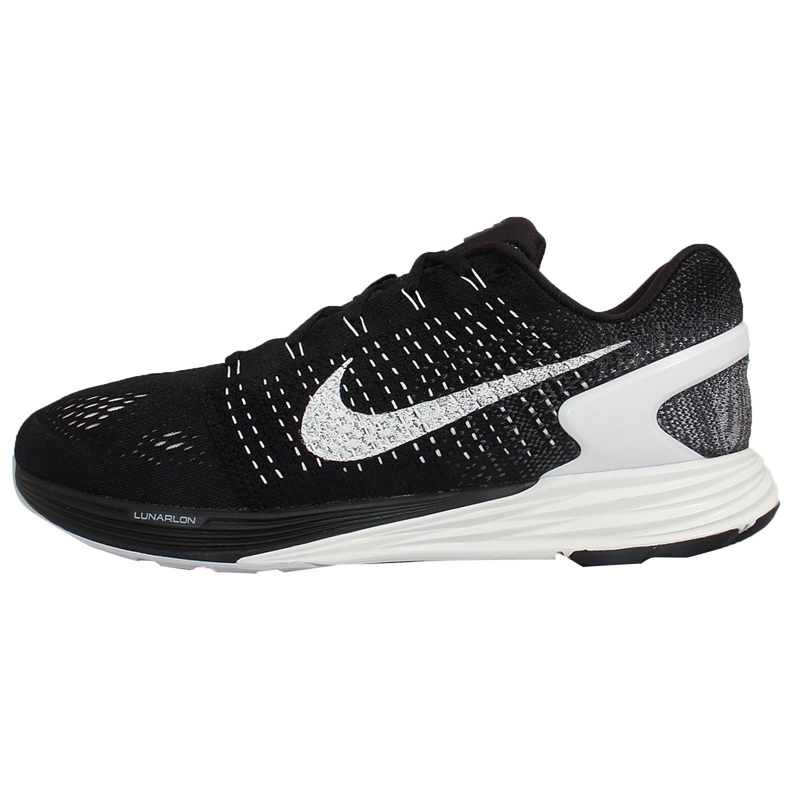 1e52d28f52aff Galleon - Nike Men s Lunarglide 7 Black Summit White Anthracite Running Shoe  11.5 Men US