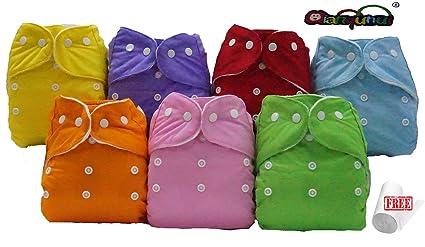 Juego de pañales lavables Pocket 30 + 30 Puntas microfibra + rollo Bamboo -7 colores