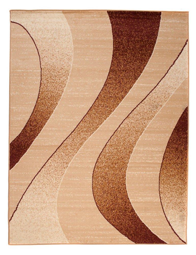 Tapiso Dream Teppich Wohnzimmer Modern Wellen Streifen Rot Creme Creme Creme Leicht Meliert Schlafzimmer Esszimmer Gästezimmer ÖKOTEX 220 x 300 cm B07HL3FPHN Teppiche 94a514