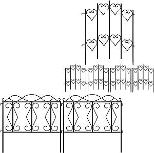 "Amagabeli Decorative Garden Fence 27inx9ft Bundle 24"" high x 24"" Wide 5 Panels"