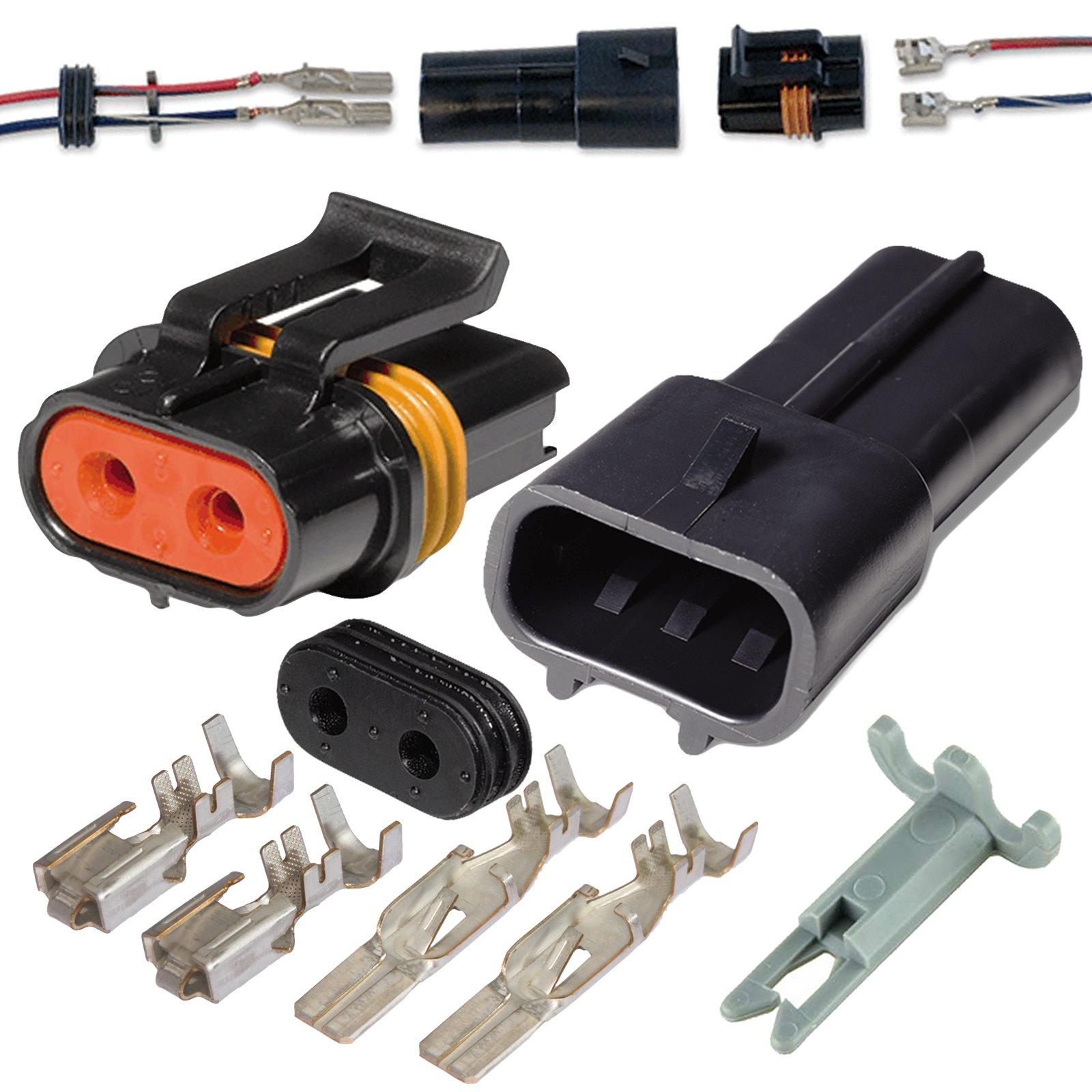 Delphi Metri-Pack 280 Series 2-Way Connector w//10-12 AWG Sealed Waterproof Set